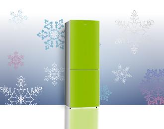 Холодильник зеленого цвета